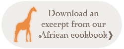 Download an excerpt from our African cookbook