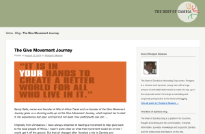 Give Movement Journey